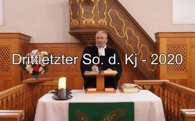 Drittletzter Sonntag des Kirchenjahrs – 2020