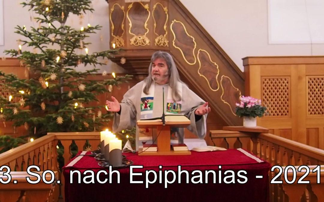 3. Sonntag nach Epiphanias