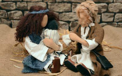 """Lukas grüßt uns zum Januar: Jesus und die """"verkrümmte Frau"""""""